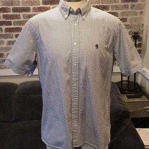 Brooks Brothers men's seersucker shirt